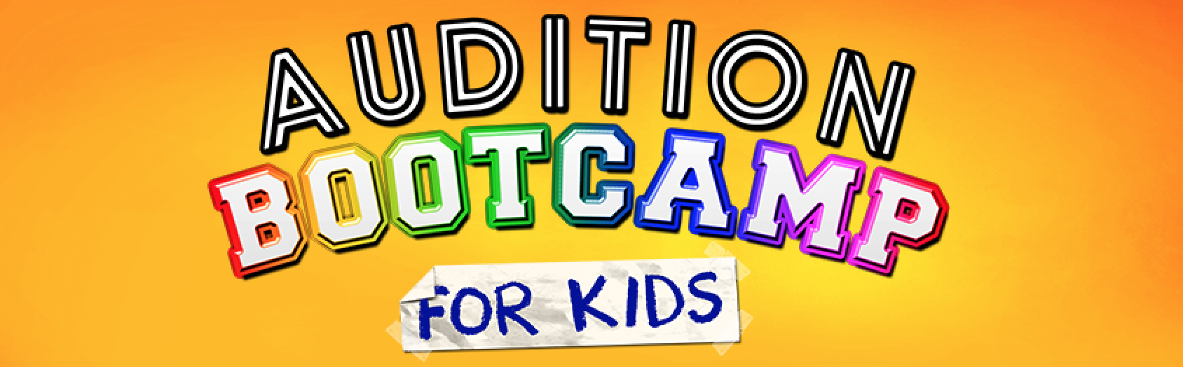 Audition Bootcamp for Kids poster